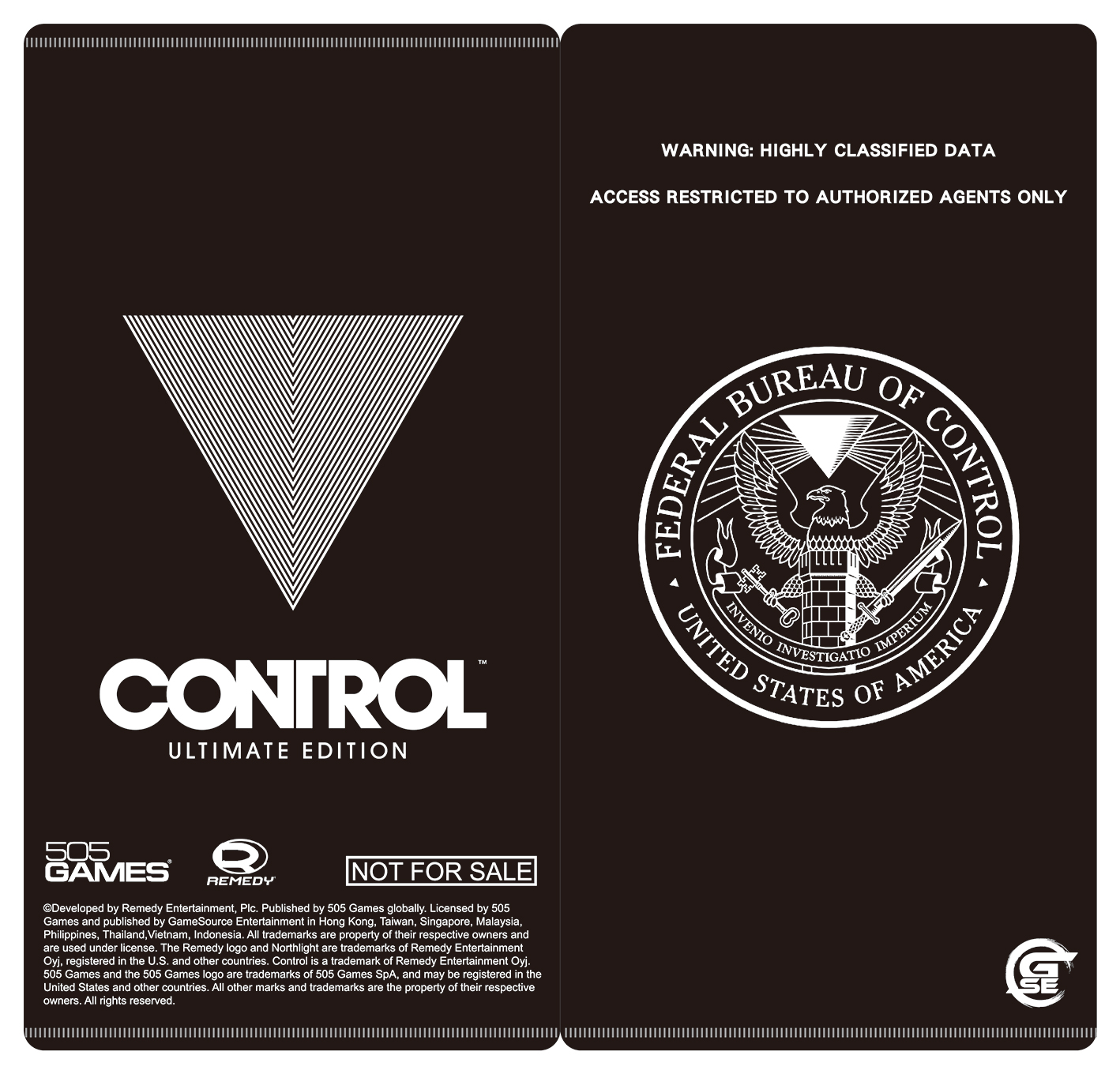 Control,控制,PS4,Remedy Entertainment,505 Games,GSE,